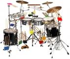 <h5>Percussion</h5><p>Schlaginstrumente (Fell-, Effekt- und Melodieinstrumente)</p>